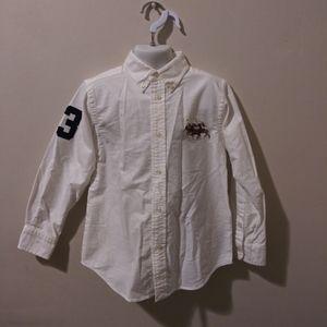 NWOT Ralph Lauren Boy's Embroidered Oxford Shirt